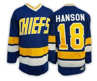 Wholesale Factory Price Mens CHIEFS Hanson Brothers Blue Hockey Jersey Size S XL Accept Retail And Mixed Orders