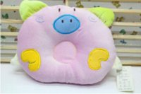 Wholesale NEW Baby Infant Sleeping Support Cartoon Pig Pillow Cushion Positioner Prevent Flat Head cushion pillow covers