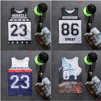 basketball singlets - Miracle Tank Tops Basketball Jersey Singlet Vest GymShark Tank Tops with SEELE Print for Men V2