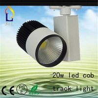 Wholesale 20w w integration LED track light White black with power box hot sale cob led track spot light