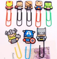 american office supply - Super American Heroes Paper Clip Bookmark Promotional Gift Stationery School Office Supply Escolar Papelaria