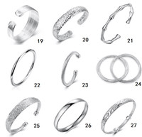 Wholesale Christmas gift silver fashion Bangle Bracelet Hot Selling mix order B2