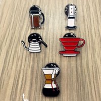 asian pots - X077 Cute Hand Washed Pot Philharmonic Filter Cup Coffee Chemex Brooch Pins Fashion Jewelry