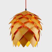 antique wood chandelier - Denmark Antique PH Artichoke Oak Wooden Pineal Modern Creative Handmade Wood LED Hanging Chandelier Lamp Lighting Light v