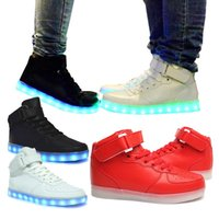 Cheap led high top shoes Best colorful glowing shoes