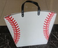 art materials canvas - sale DHL shipping Baseball Tote Bags Sports Bags Casual Tote Softball Bag Football Soccer Basketball Bag Cotton Canvas Material