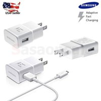 Wholesale Samsung Galaxy Note S6 Edge Adaptive Fast Rapid Charger Wall Charger ft Micro USB Charge Cable