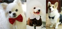Wholesale Hot Sales Dog Neck Tie Dog Bow Tie Cat Tie Supplies Pet Headdress adjustable bow tie free express shipping