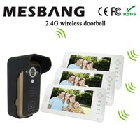Wholesale White Color Wireless Video Doorbell Door Intercom With inch Monitor No need Cable Easy to Install