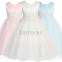 american princess prom dresses - Kids Party Pageant Dresses Girl Wedding Bridesmaid Dress Handmade Beaded Lace Tutu Prom Birthday Dresses Ball Gown Princess Tulle Dress B470