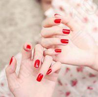 Wholesale 11 color LJJK283 False Nail Tips Gel Nail Patch Full Nail Art Tips Tools set Full Fingernails Manicure Nails with g glue