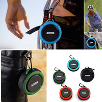 Cheap C6 Portable Waterproof Wireless Bluetooth Speaker Outdoor Suction Cup Handsfree MIC TF Function Speakers For iphone Samsung w  Retail Box