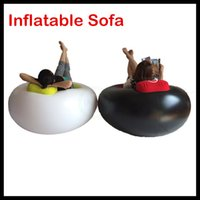 Wholesale Hot sale Popular Single Inflatable sofa Single lazy sofa relax chair with free pump home decoration DHL