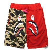Wholesale 2016 Japanese popular logo on the streets of camouflage head cotton shorts minutes of pants personality of men s summer