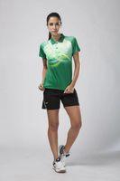 achat en gros de badminton vert-Veste de qualité supérieureBadminton vêtements Badminton vêtements 2016 bleu blanc vert orange t-shirts et shorts de haute qualité