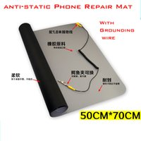 antistatic cleaner - 50cm cm Antistatic Gray Clean Room Sticky Mat Mobile computer repair work mat Attached ground wire