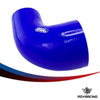 Wholesale PQY RACINGE BLUE quot quot MM MM degree Elbow Silicone Hose Pipe Turbo Intake PQY SH90300400BL