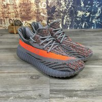 air yeezys shoes - with original box New Yeezys SPLY boost V2 Season Women Mens Shoes Kanye West Orange Grey Sport Sneakers Running Shoes