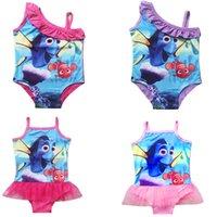 Wholesale 2016 Girls Swimwear Swimsuit Bathing Suits fashion cartoon animals suspender kid clothing children clothes wear