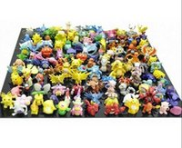 Wholesale 144 set Pocket Monsters Figures Toy Cartoon Anime Mini Pocket Monsters Action Figures Children s Toys Birthday Gifts Mixed cm