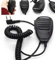 Wholesale pieces BAOFENG Handheld UV R V2 BF F8 WP970 s Speaker Mic Walkie Talkie Radio WA