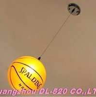 basketball lamps - pendant lights Modern fashion lamp glass basketball bedroom droplight hanging wire basketball children night light