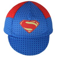 Wholesale 2016 Superman Riding Hats Cycling Bike Bicycle Cap Outdoors Breathable Anti sweat Sunproof Face Mask Cycling caps