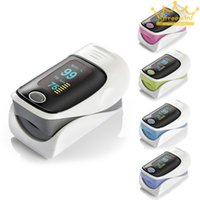 Wholesale OLED Fingertip Pulse Oximeter Finger Blood Oxygen SPO2 PR Heart Rate Monitor Please choose the color you need