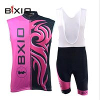 bicycle clothing brands - 2016 Summer Cycling Jersey Women Peach Bicycle Clothing Sleevelss Bxio Brand Cycling Jerseys Sets High Quality BX R0S045