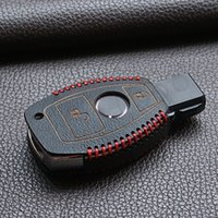 Wholesale Top quality Genuine leather car key cover Stickers case bag wallet for mercedes benz w214 w211 A180 A200 A260 A Classe buttons