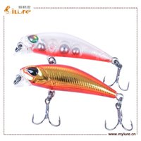 action plastic lures - Multicolor Minnow Plastic Fishing Lure With D Eyes New Product VIB Sinking Action Hard Fishing Bait