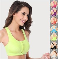 eye hooks - New Gym Womens Sports Push Up Bras Underwear No Rims Fitness Running Shockproof Seamless Bra Top For Women Fashion Sexy Colors Plus Size