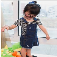 baby jean skirt - Y baby girl cotton demin straight skirt blue color spring children kids Jean skirt with hole out fit
