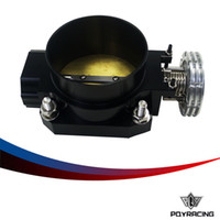 Wholesale PQY RACING BLACK MM CNC machined T6061 aluminum Q45 THROTTLE BODY Intake Manifold FOR nissan RB25DET RB26DET RB20DT GTS PQY6943BK