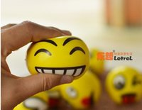 Big Kids Yellow Rubber Emoji Faces Squeeze Stress Ball Hand Wrist Finger Exercise Stress Relief Therapy - Assorted Styles New Christmas party gifts