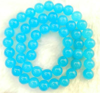 Wholesale Natural AAA mm South African Blue Topaz Gems Round Loose Beads quot AAA