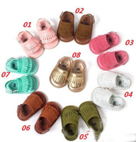 Wholesale 2016 new Seven Harper Style Baby PU Leather Shoes Moccasins Soft Shoe Open Toe Handmade Sandel Tassel Toddler Prewalker For T