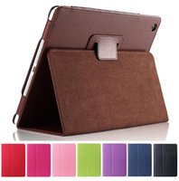 auto accessories china - For ipad Magnetic Auto Wake Up Sleep Flip Litchi Leather Case ipad ipad Cover with Smart Stand Holder