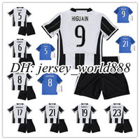 best shirt boy - best quality kids Juven home soccer Jersey Kits MARCHISIO DYBALA HIGUAIN DANI ALVES PJANIC BONUCCI Away child Football Shirt