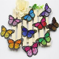 Wholesale 30Pcs Multicolor embroidered cloth patch Butterfly appliques Iron sewing decoration patches Clothing fabric accessories