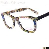 Wholesale 2016 Retro Fashion New York City subway map design Women Men Acetate Clear Lens Eyeglasses Optical Eyewear BG29009