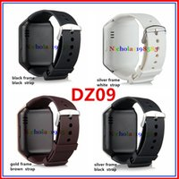 Wholesale DZ09 Smart Watch Bluetooth Smartwatch Wrist Watches For Phone Support Camera SIM Card TF Card VS U8 GT08 GV18 A1 W8 Q18 Apple Fitbit Watch