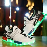Wholesale 2016 New Colors Luminous Shoes Unisex LED Glow Shoe Men Women Fashion USB Rechargeable Light Led Shoes For Adults Led Shoes