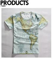 americas map - Personality patterns map Americas character world map leisure T Shirt Tee D