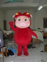 big pig music - Big Fat Pig Red Body Smiley Face Cartoon Mascot Costume Suit Party Fancy Dress Suit Stage Performance Suit Halloween Costume Suit Free Shipp