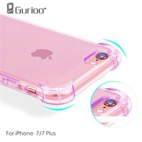 Wholesale 2017 New Transparent Clear Crystal Case Coque For iPhone Plus Soft Rubber Bag Cases Luxury TPU Silicone For Apple IPHONE7 Phone Cover