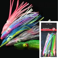 Wholesale lure fishing cm soft squid octopus skirt lure bag