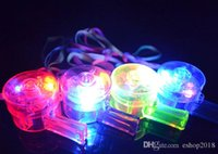 Wholesale Mixed LED Light Up Bottle Whistle Flashing Glow Sport Whistle with Strap For Party Concert Disco Wedding KTV Chirstmas Gift LED toys