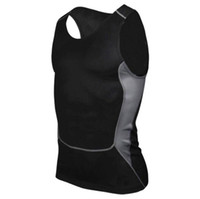 Wholesale Sports Training clothes football basketball tights quick drying T shirt summer men running fitness vest