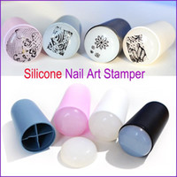 Wholesale New Design Nail Art Stamp Color Silicone Soft Nail Art Templates for DIY New Year Christmas Gift Stamper Scraper